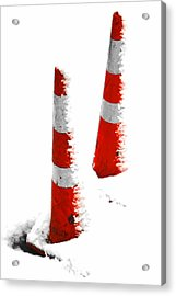 Acrylic Print featuring the digital art Orange Snow Cones by Steve Taylor