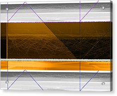Orange Stripe Acrylic Print by Naxart Studio