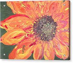 Orange Sunflower Acrylic Print