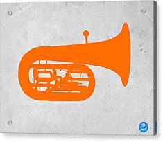 Orange Tuba Acrylic Print by Naxart Studio