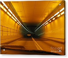 Orange Tunnel In Dc Acrylic Print by Ausra Huntington nee Paulauskaite