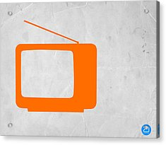 Orange Tv Vintage Acrylic Print by Naxart Studio