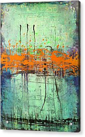 Orange Interruption Acrylic Print by Lolita Bronzini