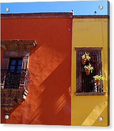 Orange Yellow Blue 2 Acrylic Print by Anthony George