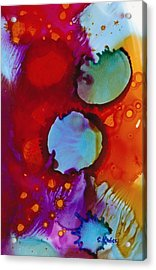 Orbs Of Color Acrylic Print by Susan Kubes