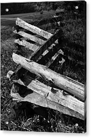 Orchardfence Acrylic Print by Curtis J Neeley Jr