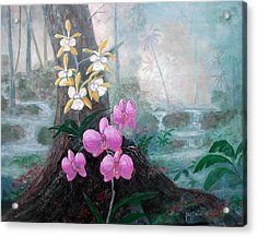 Orchid Wilderness Acrylic Print