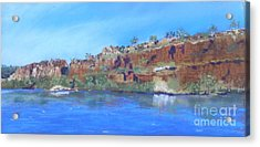 Ord River Afteroon Cruise Acrylic Print by Nadine Kelly