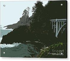 Acrylic Print featuring the photograph Oregon Coast Ben Jones Bridge by Glenna McRae