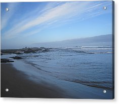 Acrylic Print featuring the photograph Oregon Coast In Blue by Karen Molenaar Terrell