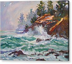 Oregon Coastal Mist Acrylic Print by David Lloyd Glover