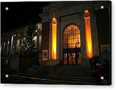 Oregon State Orange Lights At Memorial Union Acrylic Print by Oregon State University