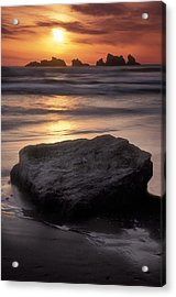 Oregon Sunset Acrylic Print by Dave Mills