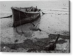Orford Wreck Acrylic Print by Darren Burroughs