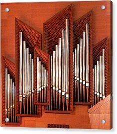 Organ Of Bilbao Jauregia Euskalduna Auditorium Acrylic Print by Juanluisgx