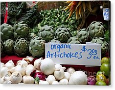 Organic Artichokes - 5d17065 Acrylic Print by Wingsdomain Art and Photography