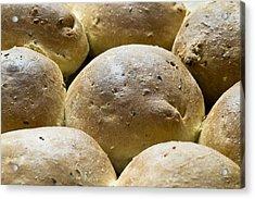 Organic Bread Rolls Acrylic Print by Frank Tschakert