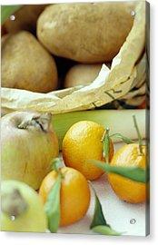 Organic Fruits And Vegetables Acrylic Print by David Munns