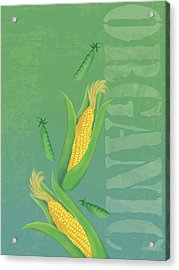 Organic Produce Illustration Acrylic Print by Don Bishop