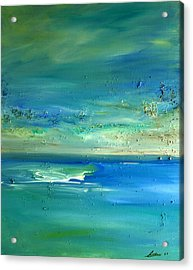 Acrylic Print featuring the painting Organic Seascape by Dolores  Deal