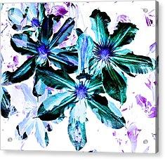 Organic Techno Flowers Acrylic Print