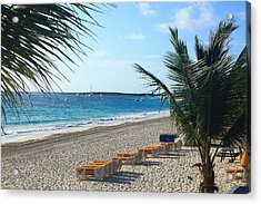 Acrylic Print featuring the photograph Orient Beach St Maarten by Catie Canetti
