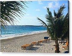 Orient Beach St Maarten Acrylic Print by Catie Canetti