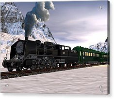 Acrylic Print featuring the digital art Orient Express by John Pangia
