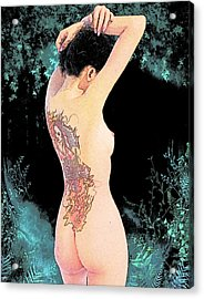 Oriental Beauty Acrylic Print by Maynard Ellis