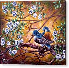 Oriental Birds Acrylic Print