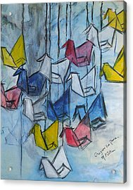 Origami For Peace Acrylic Print