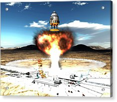 Orion-drive Spacecraft Using Atomic Acrylic Print by Rhys Taylor