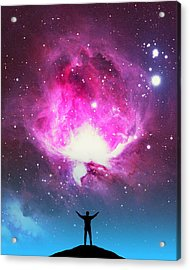 Orion Nebula Awestruck Acrylic Print