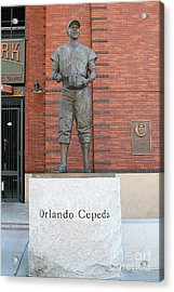 Orlando Cepeda At San Francisco Giants Att Park .7d7631 Acrylic Print by Wingsdomain Art and Photography