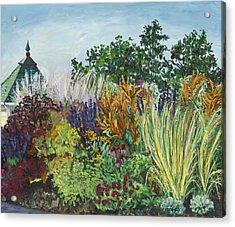 Ornamental Grasses In Longfellow Gardens Acrylic Print by Christina Plichta