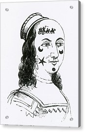 Ornamental Patches On Face, 17th Century Acrylic Print by Photo Researchers