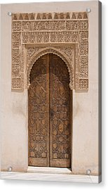Ornate Door Alhambra Acrylic Print