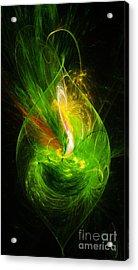 Ornate Emerald Green Drop Acrylic Print