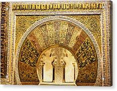 Ornate Mezquita Mihrab In Cordoba Acrylic Print by Artur Bogacki