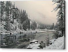 Orofino Snow Clearwater River Acrylic Print