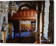 Orthodox Church Oil Candle Acrylic Print by Stelios Kleanthous