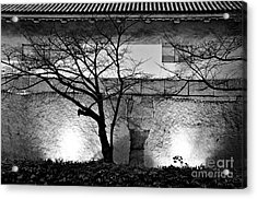 Osaka Castle Wall Acrylic Print by Dean Harte