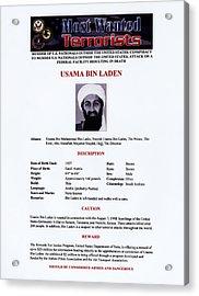 Osama Bin Laden, Militant Islamist Acrylic Print