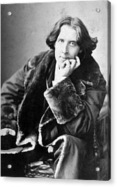 Oscar Wilde 1864-1900, Photograph Acrylic Print by Everett