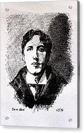 Oscar Wilde Acrylic Print by John  Nolan