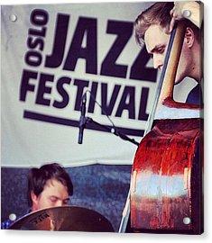 #oslo #jazz #festival #norway #playing Acrylic Print