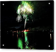 Osoyoos Lake Lights Up Acrylic Print by Don Mann