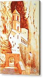 Ostrog Abbey. Montenegro. Acrylic Print by Sasa Djerkovic