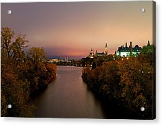 Ottawa At Night Acrylic Print
