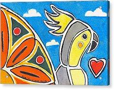 Our Heart Bird Oscar Acrylic Print